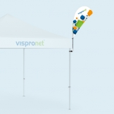 Pop Up Tent Bowflag® from Vispronet®