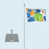 Flagpole Standard with Base Plate 22