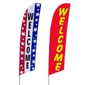 Welcome Stock Design Bowflag®