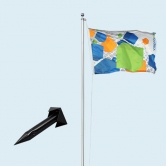 Flagpole Standard with Ground Stake