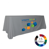 Colored Table Throw with Logo Print