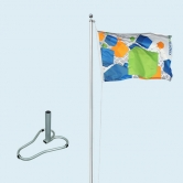 Flagpole Standard with Car Base Deluxe