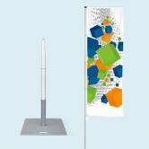 Telescopic Flagpole with Base Plate 22