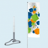 Telescopic Flagpole with Car Base Deluxe