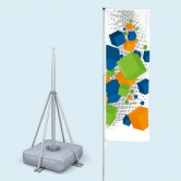 Telescopic Flagpole with Cross Stand Large