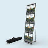 Roll Out Brochure Holder 8 Pockets