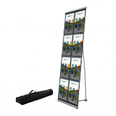Roll Out Brochure Holder Deluxe with 8 Pockets