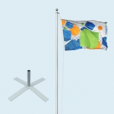Flagpole Standard with Cross Stand XXL