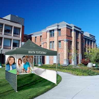 Pop Up Tents can be used outdoors to attract attention to your brand or service