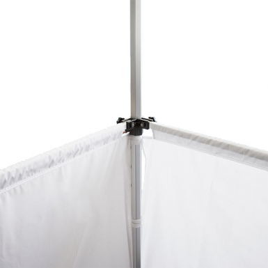 Allows your tent half walls to all be installed at the same height