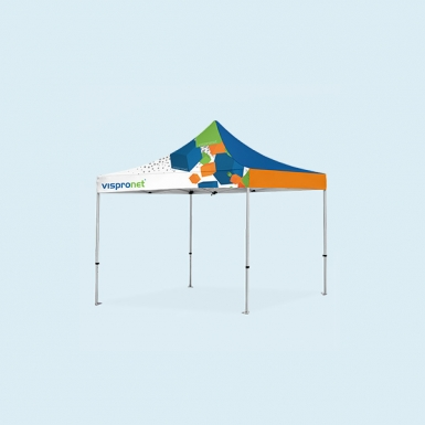 the pop up tent deluxe 10x10 with full print small is a