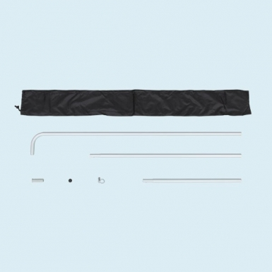 Pole sets come with black tote for storage