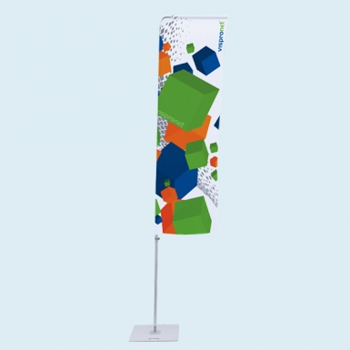 Portable Flagpole with Banner Arm
