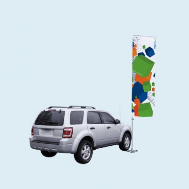 Car Base Deluxe with Portable Flagpole