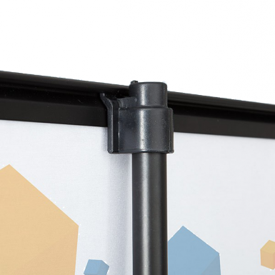 Top clamping rail slips on to support rail clip