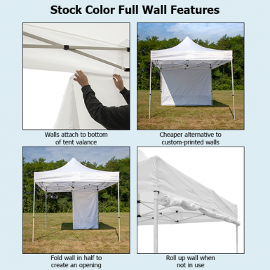 Stock color wall features