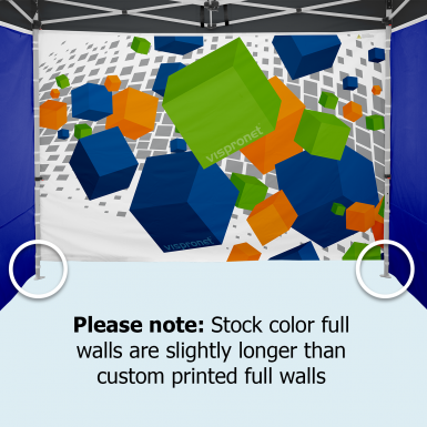Most stock walls are slightly longer than custom printed walls