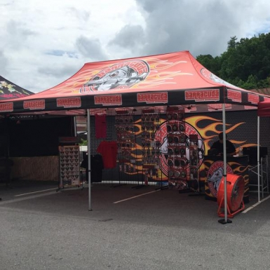 pop up tent deluxe 10x20 with full print and 2 tent walls with full print - 10x20 Pop Up Canopy