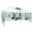 Pop Up Tent Premium 13x26 with two round window walls and one wall with rectangular windows