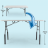 "Bent Table Leg Risers - Bar Height increase the height of 29"" tall Vispronet tables by 12"" to approx. 41"""