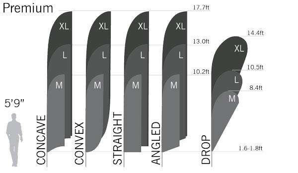Premium Feather Flag Pole Set