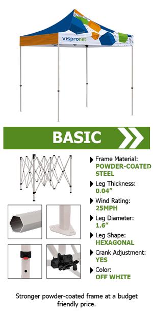 custom 10x10 basic tent