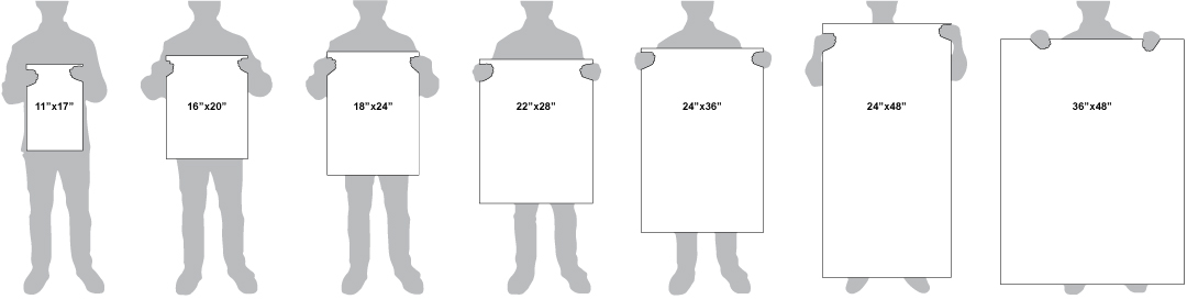 Foam board sizes offered for signs