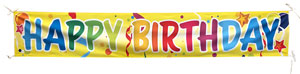 Stock Design Happy Birthday Banner