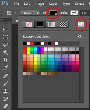 Photoshop Fill and Color Picker