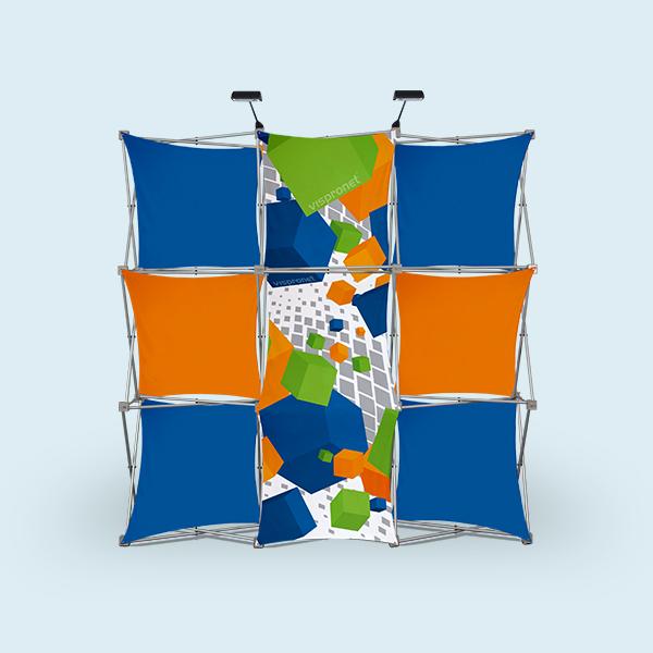 pop up portable booth 3d with stretch panels vispronet. Black Bedroom Furniture Sets. Home Design Ideas