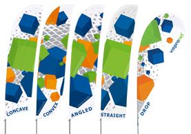 custom feather flag shapes