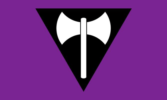 Labrys Lesbian Flag