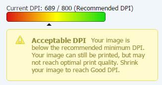 Acceptable DPI